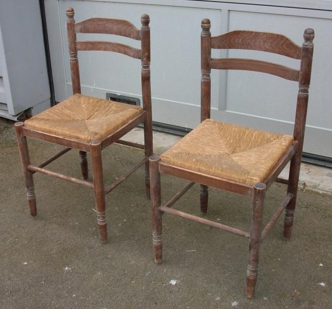 Moderniser une chaise en paille chaise en paille avant for Garde meuble grenoble