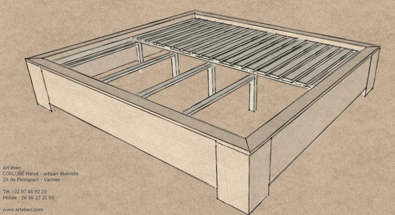 Lit pour tatami et futon art 39 b nart 39 b n - Fabriquer un lit de princesse ...