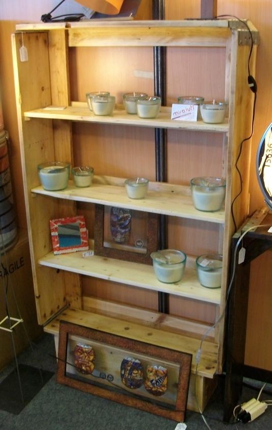 bibliothèque en bois de palette - Art'ébèn