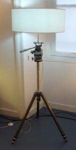 lampadaire trépied de caméra - Art'ébèn