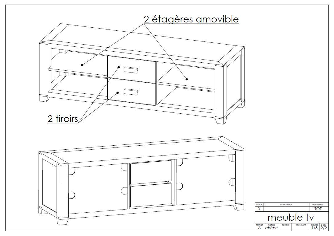 meuble de t l vison de style scandinaveart 39 b n. Black Bedroom Furniture Sets. Home Design Ideas