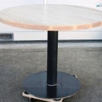 Table ronde métal / bois - Art'ébèn