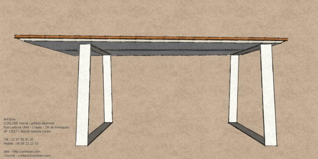 bureau métal-bambou - art'ébèn