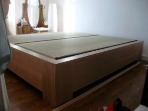 cadre de lit tatami et furon - art'ébèn