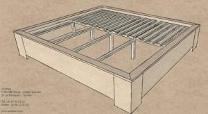 projet cadre lit tatami et futon 10-14 - arteben