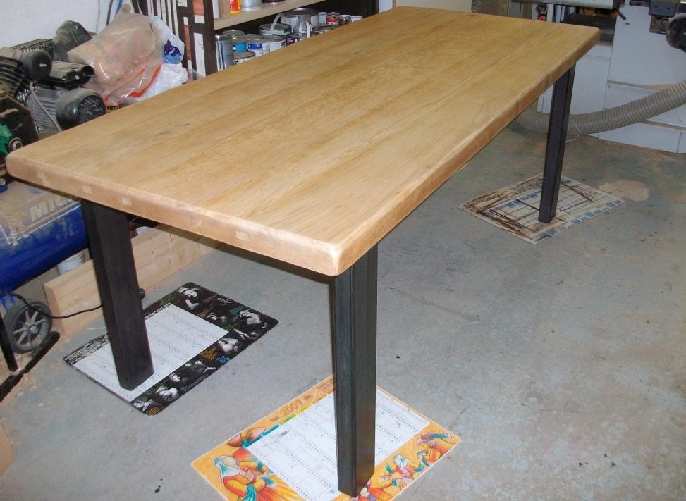Table style industriel art 39 b nart 39 b n - Table cuisine style industriel ...