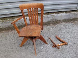 chaise de bureau pivotante - art'ébèn