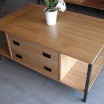 Table basse métal et bois - art'ébèn